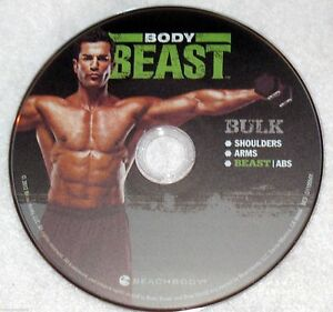 BODY BEAST - BULK SHOULDERS/ARMS/BEAST ABS - NEW DVD