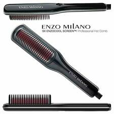 Enzo Milano HBRSX00-B ENZOcool Screen Professional Hot Comb Brush (Black)