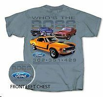 Ford Who's The Boss 302 351 429 Mustang Men's Official Licensed T shirt