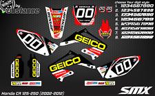 CR 125 CR 250 motocross graphics kit MX decals CR 125 250 02-12 2010 2011 2008