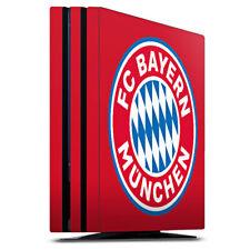 Sony Playstation 4 PS4 Pro Folie Aufkleber Skin - FC Bayern München Logo auf Rot