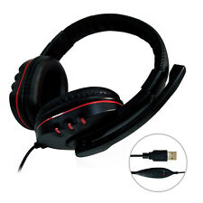 USB Surround Stereo Gaming Headset Headband Headphone with Mic For Computer PS4(