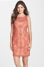 NEW! JS Collections Soutache & Lace Sheath Dress Melon [SZ 4] #N61
