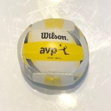 """Wilson AVP Mini  Ball Foam Replica Beach Volleyball - Yellow/White 2.5"""""""