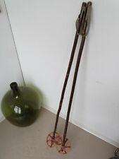 V2239 Antike Skistöcke um 1930 ~ RAR ~ Skistock ~ Super Winter Deko ~ 140cm lang