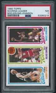 1980 Topps Basketball Larry Bird Julius Erving Magic Johnson ROOKIE RC PSA 7 NM