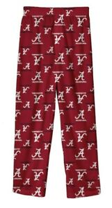 New NWT Alabama Crimson Tide Lounge Pajamas Pants Youth Boys Size S Small 8