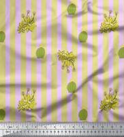 Soimoi Stoff Kaktus & Streifen Stoff 1 Meter bedrucken - ST-526I