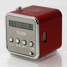 TD-V26 Mini USB Speaker with MP3 & FM Function in TF card red