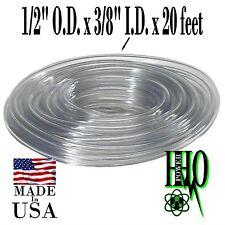 "1/2"" O.D. x 3/8"" I.D. x 20 ft. Clear Vinyl Tubing, HHO, Reservoir, Bubbler"