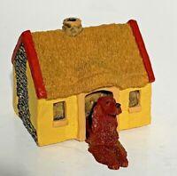 Englische Setter Mini Handbemalt Figur Orange