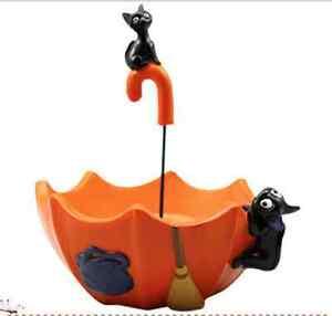 US Cute Totoro Terrarium Jiji black cat Planter Plant Habitat Vase Umbrella Pot