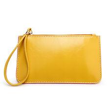 Vogue Womens Clutch Zipper Purse Wallet Wristlet Phone Bag Coin Card Holder