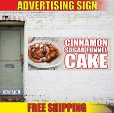 Cinnamon Sugar Funnel Cake Advertising Banner Vinyl Mesh Decal Sign Candy Bakery
