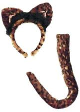 Leopard Ears Tail Jungle Safari Animal Fancy Dress Halloween Costume Accessory
