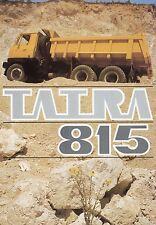 Prospectus CZ ru D tatra 815 s1 s3 camion camion brochure 1982 camion brochure