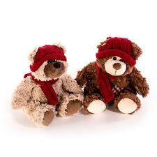 Teddybär 2er Set Kuscheltier Stofftier Plüsch Bär Teddy Plüschbären Mütze 392807