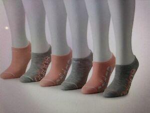 Women's ADIDAS No Show Sock Superlite 6-Pair Size 5-10 Pink & Gray