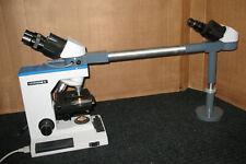 REICHERT MICROSTAR IV MICROSCOPE MODEL 410 w/ TEACHING BRIDGE / SCOPE & STAND