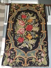 """Vintage Multi Color Floral Rug 86"""" By 50"""""""