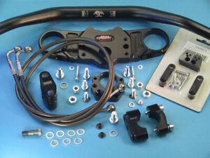Abm Superbike Booster Handlebar Kit Honda CBR 600 RR ABS (PC40) 09-12 Black