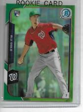 2015 A.J. COLE BOWMAN GREEN ROOKIE REFRACTOR 7/99 #166 NATIONALS ROOKIE