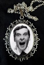 Carry On Kenneth Williams Large Antique Silver Pendant Necklace 1960s
