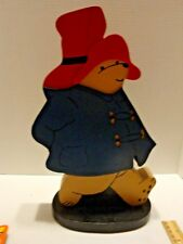 VTG Paddington Bear Extra Large Wooden Handcrafted Coin Bank