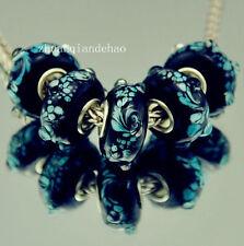 5pcs MURANO Lampwork charm Beads fit 925 silver European Bracelet Chain a151