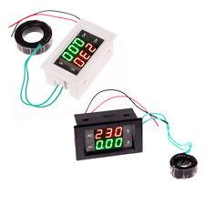 Dual Display LCD Panel Ampere Voltage Volt Amp Meter Ammeter AC 100-300V/200A