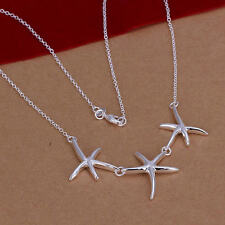 Hot New lady noble Silver jewelry elegant women starfish fashion necklace N124