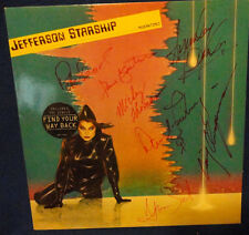 """SIGNED BY THE MEMBERS JEFFERSON STARSHIP ON THE """"MODERN TIMES'"""" LP RECORD COVER"""