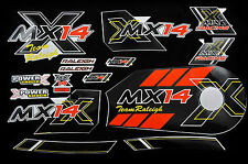 DECAL SET-RALEIGH MX14 STICKER PACK SUIT BIKES & TRIKES  WTFRMX14