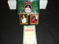 COCA COLA HISTORIC WOMEN IN ADS METAL ART 20 CARD SET 1994 IN NICE COLLECTOR TIN