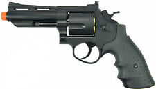 "HFC 44 Magnum 4"" Barrel Revolver Green Gas Airsoft Pistol Handgun Black HG-132B"