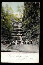 1907 people view French Canyon Starved Rock Lasalle County Illinois postcard