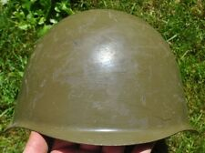 1960s Czech Soviet Russian Pattern Combat Helmet w Chinstrap NICE CONDITION