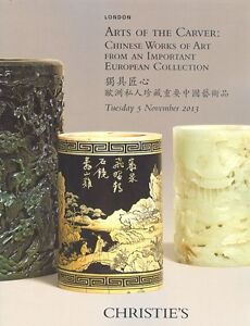 Christie's Catalogue Arts of The Carver: Chinese Works of Art  2013 HB