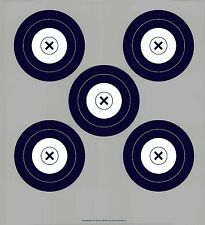 NFAA Style Five(grey)/Single Spot DS Archery Paper Targets - 17.5x19.5 - 43 Qty