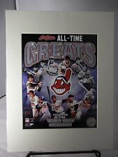 "Cleveland Indians 14 All-Time Greatest Players 8"" x 10"" Photo  Matted 11"" x 14"""
