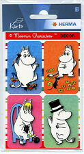 Moomin Labels Stickers 2 Sheets Karto Finland