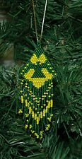 Hand Beaded Eagle Christmas Ornament
