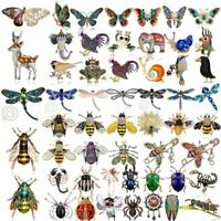 Fashion Crystal Rhinestone Bee Butterfly Dragonfly Brooch Pin Animal Insects Hot