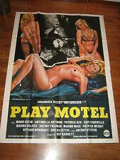 MANIFESTO PLAY MOTEL  Lovelock Annamaria Rizzoli,Marina Frajese,Lotar hard sex