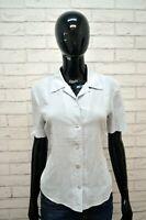 Camicia ICEBERG Donna Taglia 44 Blusa Manica Corta Hemd Grigio Cotone Chemise