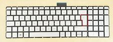NEW For HP Pavilion 17-g000 17-g002no 17-g003no Keyboard Nordic Backlit Silver