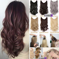 Invisible Secret Miracle Wire One Piece Human Hair Headband Weft Wavy Extensions