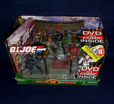 G.I. JOE Valor vs Venom NINJA BATTLES Action Figure Set DVD Comic Book Hasbro