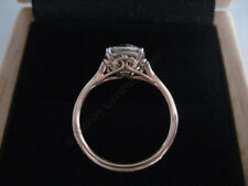 Vintage 14K Rose Gold Over 1.75 Ct Round Cut Engagement Diamond Wedding Ring