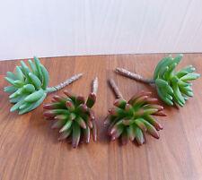 Set of 4 Artificial Succulents bergamot lotus Plants Landscape